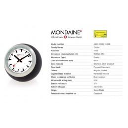 Orologio Mondaine - Globe Nero