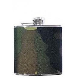 Fiaschetta inox 5 oz. - Rivestita tessuto mimetico