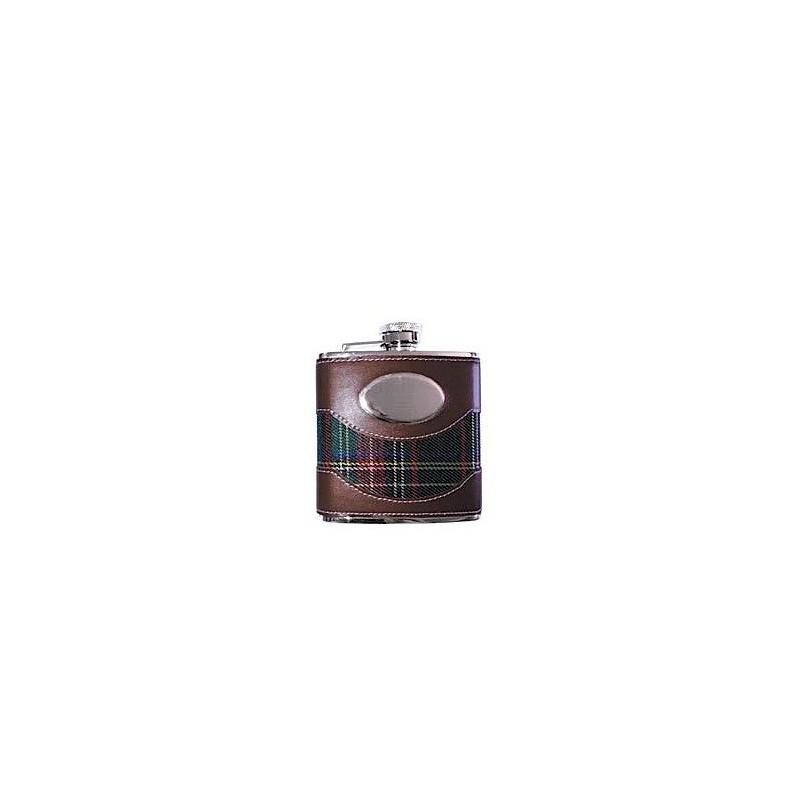 Fiaschetta inox 5 oz. - Rivestita tessuto scozzese