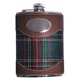 Fiaschetta inox 7 oz. - Rivestita tessuto scozzese