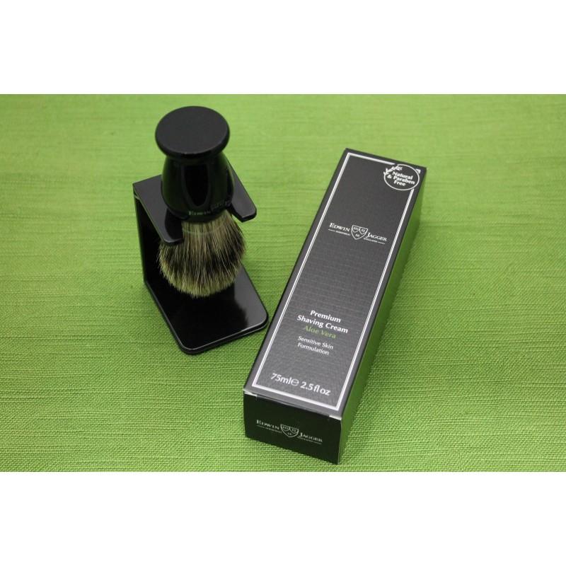 Pennello Tasso Nero + Crema da Barba Edwin Jagger GS4