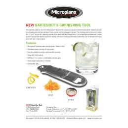 Microplane Citrus Bar Tool 41950