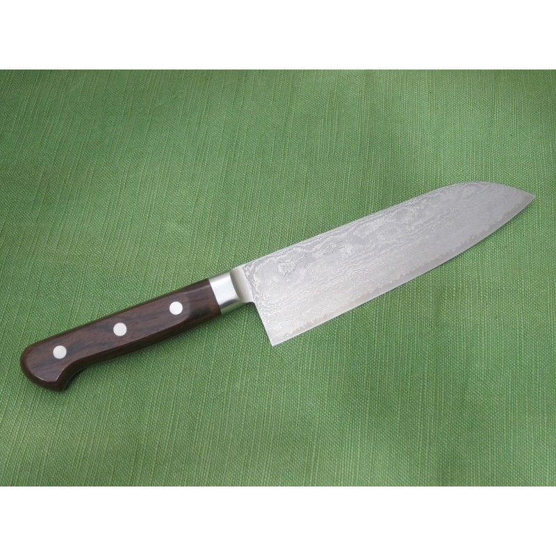 COLTELLO KIYA SANTOKU 17CM IN DAMASCO