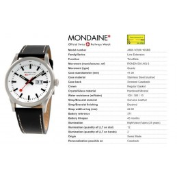 Orologio Mondaine - Tracer Night Vision Bianco