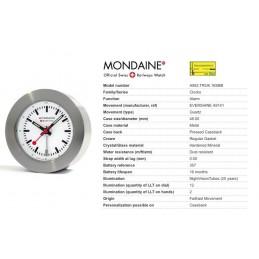 Orologio Mondaine - Travel Alarm NightVision Bianco
