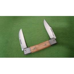 LionSteel Bestman Two Blades Olive Wood